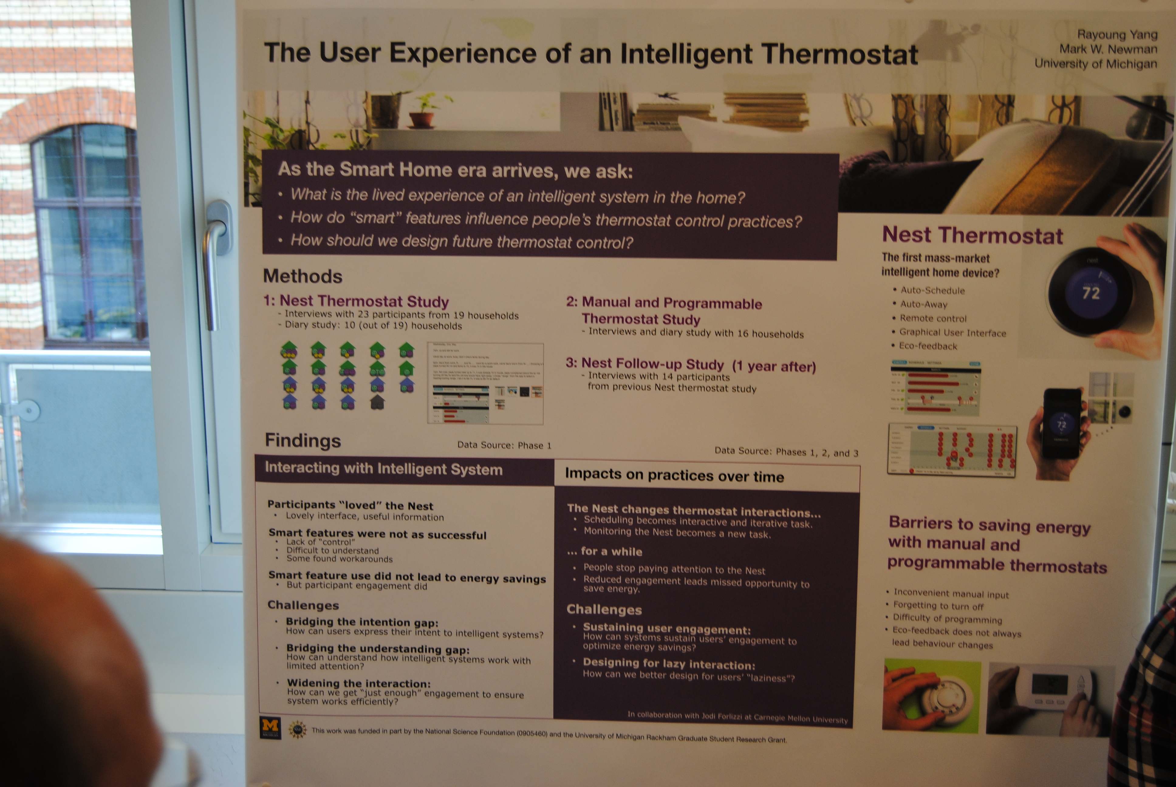 Homesys 2013 A Ubicomp Workshop Hgf And Remote Thermostat Two Talks Sessions Then Followed With Focus First On Understanding Users By Renata Teixeira Stuart Schechter Challenges Of